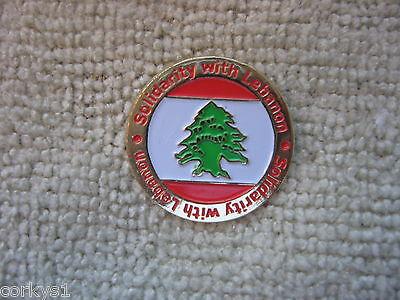 Lebanon solidarity With Lebanon Badge Lebanese Freedom Lebanon Tall Cedar
