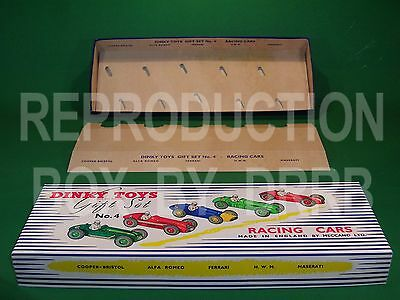 Dinky 249 (gift Set 4) Racing Cars - Reproduction Box By Drrb