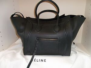 Authentic-CELINE-Small-Luggage-Phantom-Bag-Black-NWT