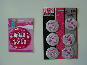Details about Hens Night Badges Bride To Be Fancy Dress
