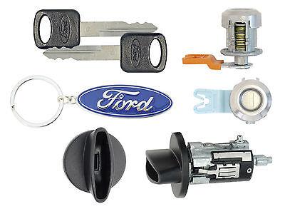 Ford F150 - 1996 1997 1998 - Ignition Cylinder & 2 Door Locks w/Keys & Keychain