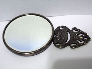 VINTAGE-ESTATE-FIND-DENMARK-SILVER-HAND-MIRROR-LOOK-NICE-MUST-SEE
