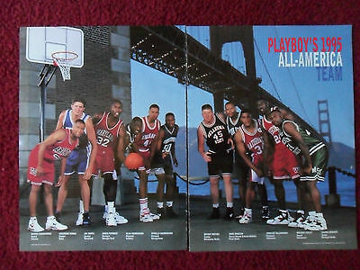 1995 Magazine Photo Page Michael Finley Wisconsin Basketball All American Team