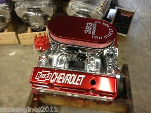 350 Chevy Crate Engines For Sale 383 STROKER THEME MOTOR 505HP ROLLER PRO STREET CHEVY CRATE ENGINE SBC