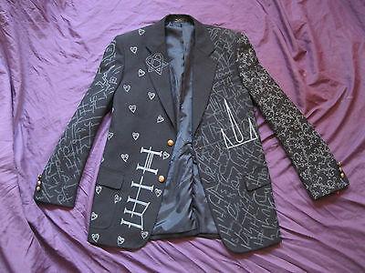 BAM MARGERA JACKET Sm, M, L, XL HIM ville valo blazer shirt rock concert