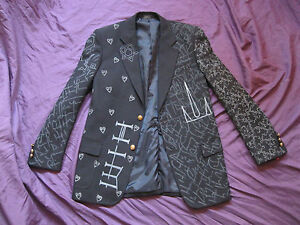BAM MARGERA JACKET Sm, M, L, XL HIM ville valo blazer shirt rock concert