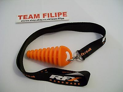 NEW GASGAS  RFX ORANGE EXHAUST BUNG PLUG & LANYARD  2T 2 STROKE MOTOCROSS **