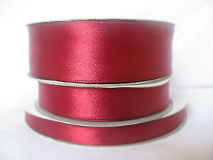 Full reel double sided satin ribbon 50m x 3mm 10mm 16mm 25mm lots of colours