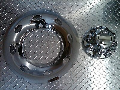 (1) 16 Chrome Trailer Wheel Hub Cap Rim Covers 2 Piece 8 Lug 7/8