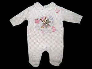 Schlafanzug Strampler Overall Disney Minnie Nikki Nicki 50-56 62 Geschenk Geburt