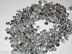 100 DIAMANTEN  Silber Streuelemente Streudeko  Tischdeko  Basteln 4,5 mm - Neu