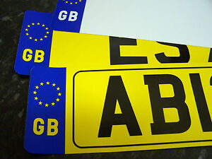 CAR-NUMBER-PLATE-FRONT-OR-REAR-GB-REGISTRATION-FREE-POST-FREE-ADHESIVE-FIXINGS