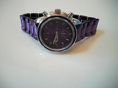 Kyпить DESIGNER GENEVA PURPLE/SILVER BRACELET FASHION WOMEN'S BOYFRIEND INSPIRED WATCH  на еВаy.соm