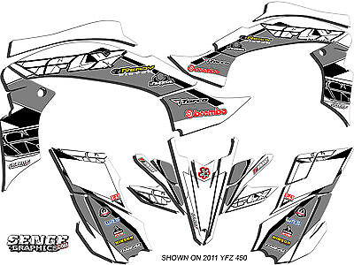 Used, RAPTOR 90 YAMAHA GRAPHICS KIT DECO STICKERS ATV QUAD 4 WHEELER FOUR DECALS FLY for sale  Verona