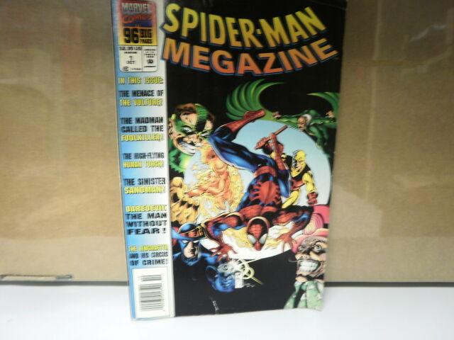 L3 MARVEL COMIC SPIDER-MAN MEGAZINE ISSUE #1 OCTOBER 1994 IN GOOD CONDITION