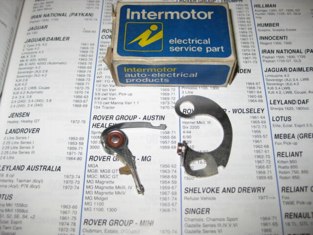 DUCELLIER IGNITION CONTACT POINTS - FITS: RENAULT 3 & 4 & ALPINE & 6 & 5 (1961-)