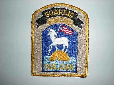 SAN JUAN, PUERTO RICO MUNICIPAL GUARDIA POLICE PATCH