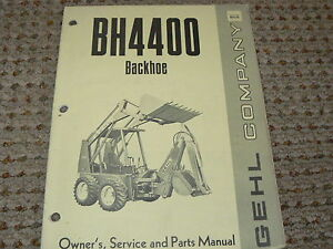 Gehl-BH4400-Backhoe-Dealers-Parts-Book
