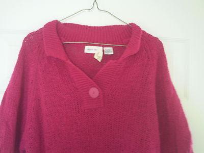 Womens Lauren Brooke Knit Top Shirt L