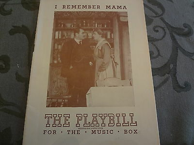 1945 I Remember Mama Rodgers & Hammerstein Broadway Theater NYC Playbill Program