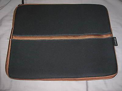 Targus Netbook Sleeve 16.5x12 Neoprene Laptop Ipad Protect Case Black Brown