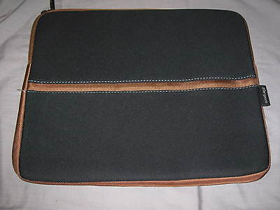 Targus Netbook Sleeve 16.5x12 Neoprene Laptop Ipad Protect Case Black Brown