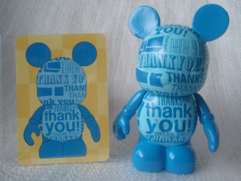 "Disney Vinylmation Celebrations THANK YOU! THANKS! Blue 3"" Mickey Mouse Figure"