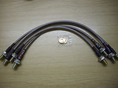 CITROEN SAXO ALL MODELS BRAIDED BRAKE HOSE KIT  LINES