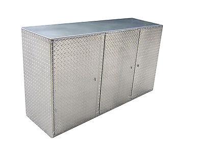 2-Aluminum Diamond Plate 6' Cabinet Base Storage Shop Race Car Enclosed Trailer