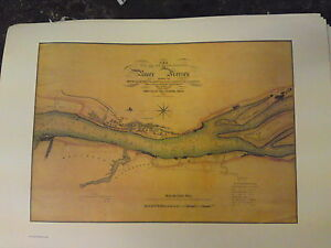 Liverpool-map-chart-of-the-river-Mersey-navigation-rare-nautical-large-print
