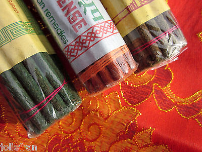 3 ROLL VARIETY great price!! HAND-MADE TIBETAN BUDDHIST INCENSE 105 GRAMS NEPAL