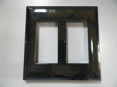 (Decorator 2-Gang Screwless SNAP-ON WALL PLATE FOR