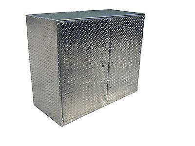 Aluminum Diamond Plate 4' Cabinet Base Storage Shop Race Car Enclosed Trailer