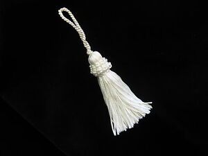 White-silky-key-tassel-Wedding-deocoration-13cm-long-Soft-furnishing-trim