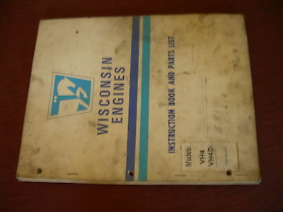 Wisconsin Engine Rebuild Instructions Parts Manual Model Vh4 Vh4d