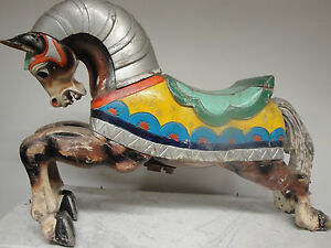 ANTIQUE CAROUSEL HORSE USA KNIGHT´s HORSE WOOD CHEVAL MANEGE+