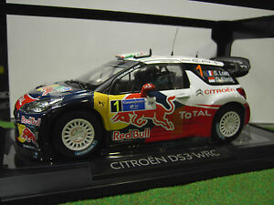 citro n ds3 wrc rallye du mexique 1 loeb 1 18 d norev 181555 voiture miniature ebay. Black Bedroom Furniture Sets. Home Design Ideas