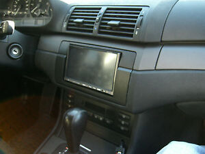 bmw e46 double din bezel kit. Black Bedroom Furniture Sets. Home Design Ideas