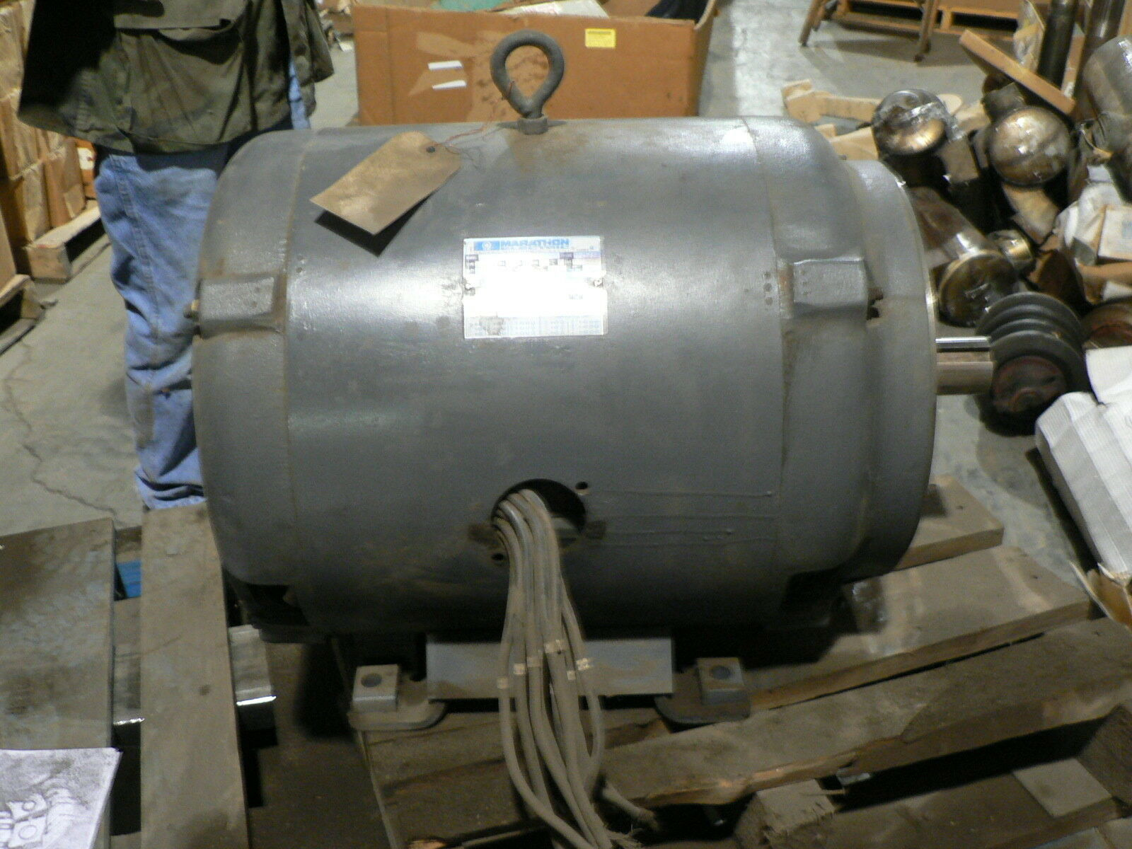 New Marathon Electric Motor 40 Hp 3 Phase Type Tdr