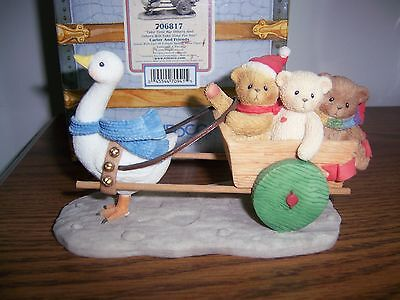 Cherished Teddies Carter And Friends Special Issue Figurine NIB