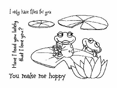 Love Frogs Clear Unmounted Stamps Set Impression Obsession Claudia Tenorio