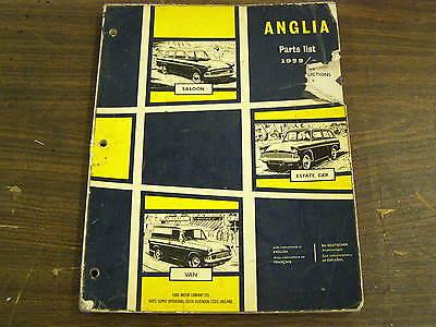 OEM English Ford Master Parts Book 1959 - 1967 Anglia Saloon Estate Car Van