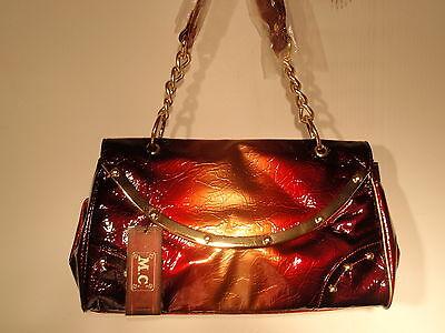 M.c. Marc Chantal Purse Handbag Burgandy Fast Free Shipping