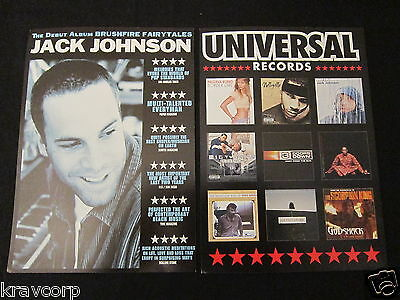 JACK JOHNSON—TWO 2002 PROMOTIONAL POSTCARDS