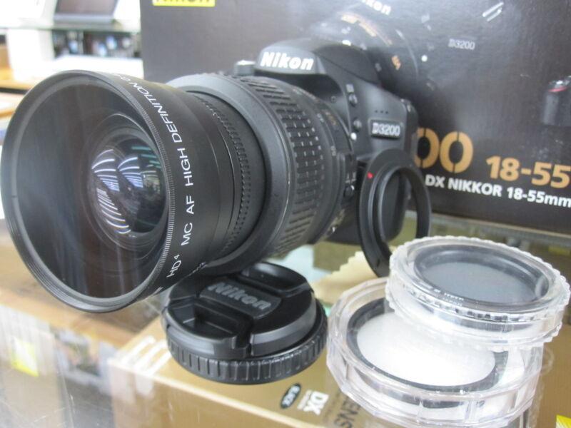 Wide Angle Macro Lens for Nikon d3200 d3000 d5100 d5200 d3100 d60 w/18-55 t mn