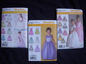 Sewing-Patterns-Pageant-Holiday-Party-Girls-Dresses-Gowns-Size-3-6-5-8