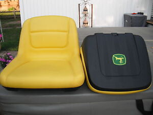 JOHN DEERE RIDING GARDEN TRACTOR LAWN MOWER SEAT W/DECAL
