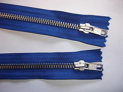 RV 385 - Reißverschluß blau ykk 66 cm lang, teilbar als 2-Wege-RV 1 Stück