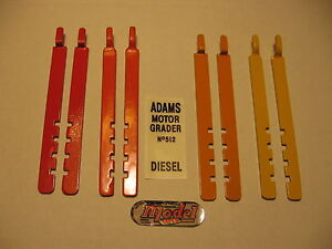 Doepke-Model-Toys-Adams-Motor-Grader-Blade-Levelers-New-Metal-Repro-Painted