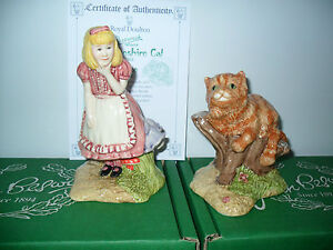 ORIGINAL-BESWICK-ALICE-CHESHIRE-CAT-TWO-FIGURES-LTD-ED-BOXED-CERTIFICATE